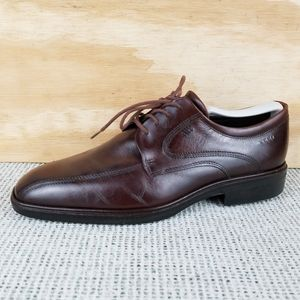 ECCO Dark Brown Leather Oxford Lace-up Shoes